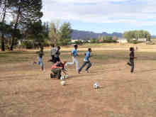 Football game at the McGregor Waldorf School